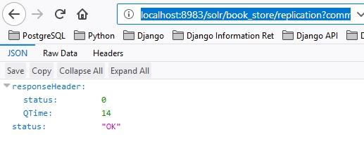 Apache Solr 7 5 Build book_store index backup / restore – e