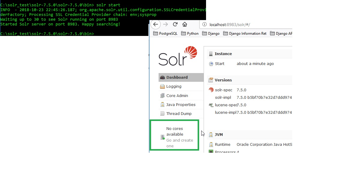 Apache Solr 7 5 create core, alter schema and query for API